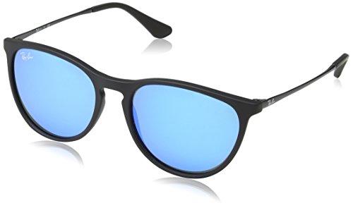 Ray-Ban Unisex Izzy Sonnenbrille, Schwarz (Gestell: Schwarz, Gläser: Blau verspiegelt 700555), Medium (Herstellergröße: 50)