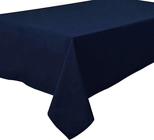 Home Direct Nappe de qualité Lourde, Facile d'entretien Carrée 180 x 180 cm Uni Bleu