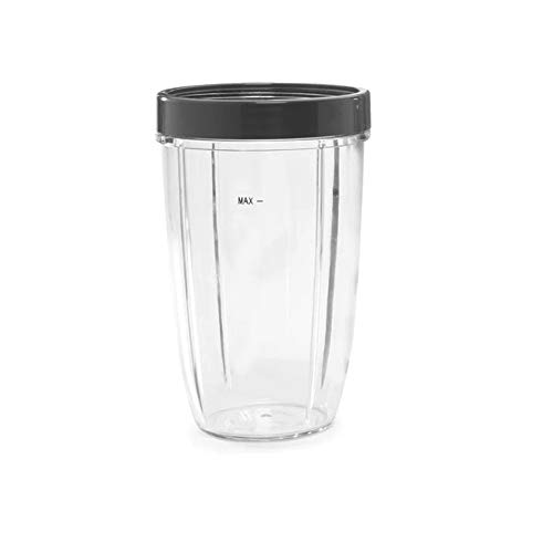 NutriBullet 24 Ounce Tall Cup with Standard Lip Ring, Clear/Gray