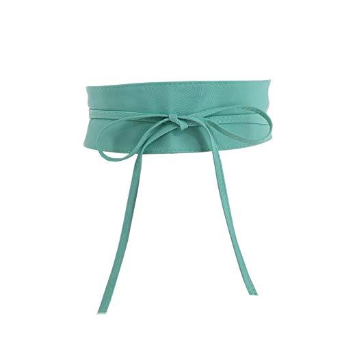 FASHIONGEN - Cinturón de Mujer Obi Ancha de Cuero sintética, para Vestido, MICA