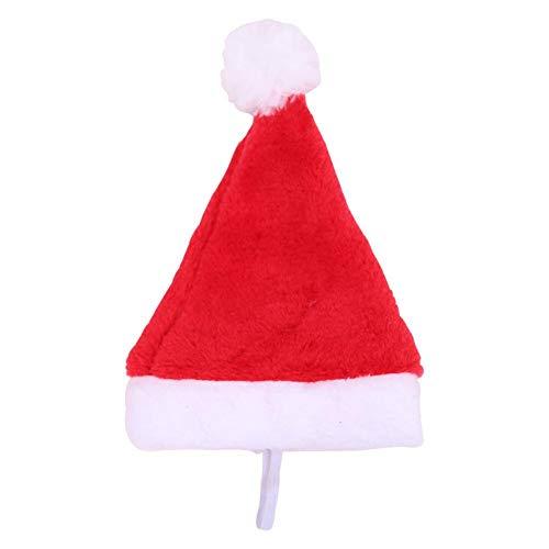 UEB Cappello di Babbo Natale per Gatto e Cane Domestico Cappello Natale in Peluche Cappellino Costume Cosplay per Gattino e Cucciolo Decorazioni Natalizie