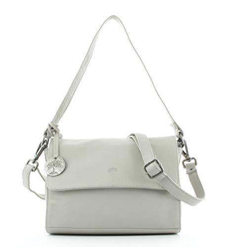 Prato Umhängetasche Damen, Leder Handtasche 26,5 x 21 x 13 cm - Beige