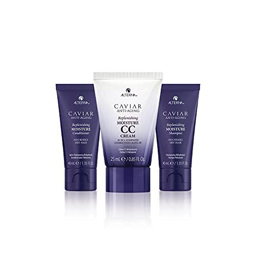 Alterna Caviar Anti-Aging Replenishing Moisture Travel Kit; Includes 1.35 oz Shampoo, 1.35 oz Conditioner & 0.85 oz CC Cream