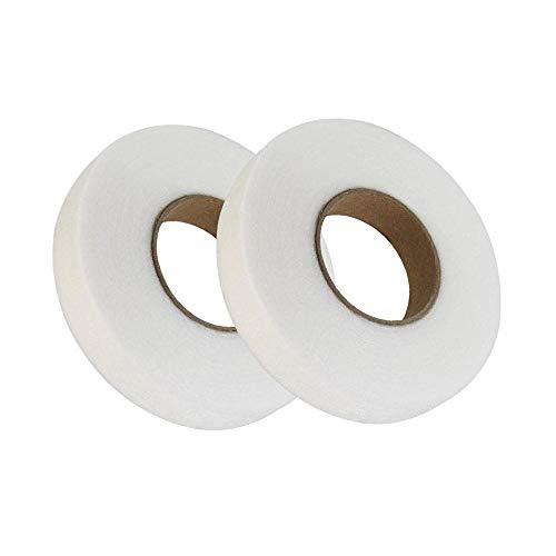 Cinta de Dobladillo,2 Rollos Cinta Termoadhesiva 70 Yardas Planchar Rollo de Cinta para Pantalones Ropa Jeans Ropa de Ropa 20 mm
