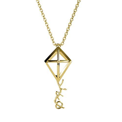 A-List Greek Kite Necklace - Kappa Alpha Theta Greeks Letters Sorority Jewelry | Silver 16