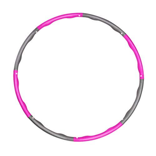 XingXiang Hula Hoop Neumático Hula Hoop Fitness Neumáticos para la reducción de peso, Hula Hoop para adultos y niños, 8 secciones de aro Hoola extraíble para entrenamiento/oficina/hogar (Farbe: 1C)