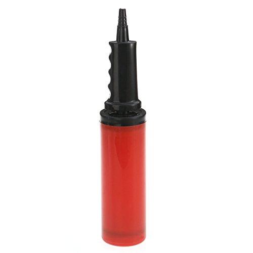 NUOLUX Inflador de globo inflador de aire de mano de la bomba de aire para globos y bolas (rojo)