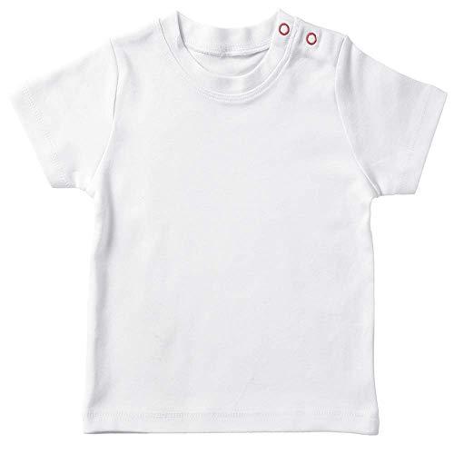 Camiseta bebé Personalizada/Camiseta Manga Corta bebé (Blanco, 1-2 años)