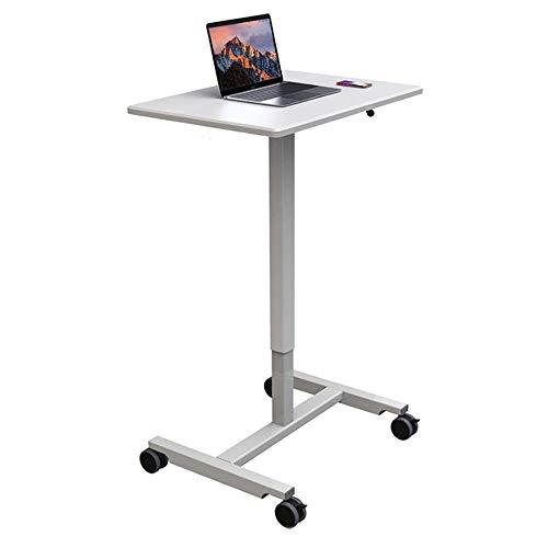 ROGF Pulte & Podien Mobile Office Konferenztisch Stehen Mobile Laptopwagen Lecture Tisch Nachttisch Für Konferenzraum (Color : White, Size