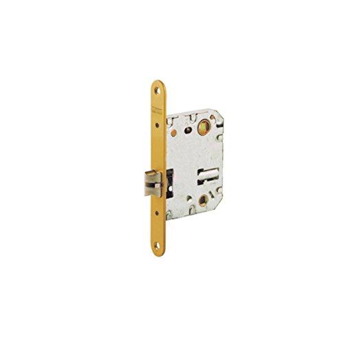 Tesa Assa Abloy 134US5RHL Picaporte Unificado Para Puertas de Madera Latonado Entrada 50 mm, Frente Redondo 134US