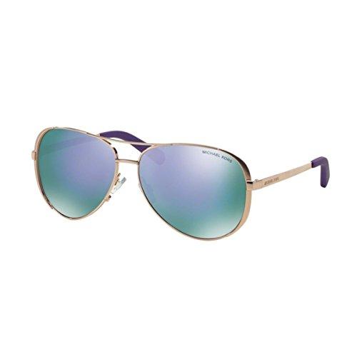 Michael Kors MK5004 Chelsea Sunglasses, Gold/Purple