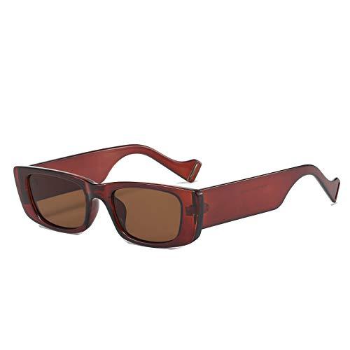Long Keeper Gafas de sol rectangulares para mujer, estilo vintage, marco cuadrado pequeño, gafas de conducción