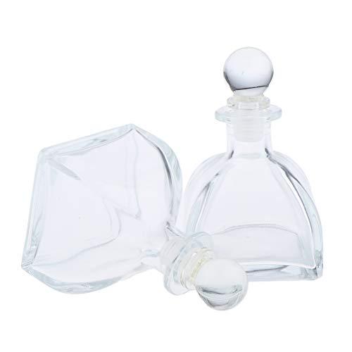 Homyl 2pcs Flacon de diffuseur Voyage Parfum Huile Essentielle Vide Réutilisable Petites Bouteille en Verre - 100 ml