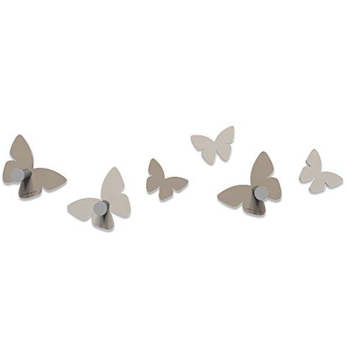 CalleaDesign - Appendiabiti Milioni di Farfalle, Colore: Tortora
