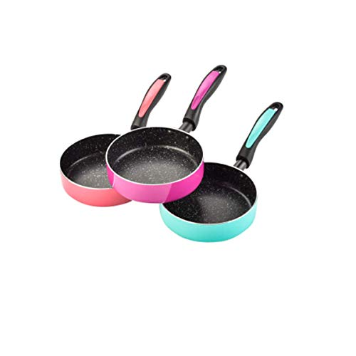 HYY-YY Sartén antiadherente compatible con inducción de 6 pulgadas, sartén, sartén, menos humos, apto para lavavajillas (color: púrpura)