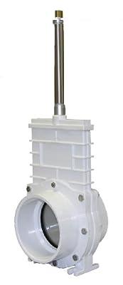 "Valterra 6401P PVC Pneumatic Gate Valve, White, 4"" Slip X Slip, Stainless Paddle by Valterra Products"