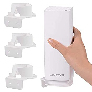Wall Mount for Linksys Velop Space-Saving Holder for Linksys Velop AC2200 Whole Home WiFi Mesh System Perfect Unified  3 Pack