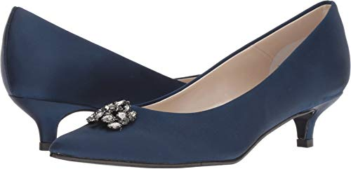 Caparros Womens Oligarch Navy New Satin Pumps Size 8