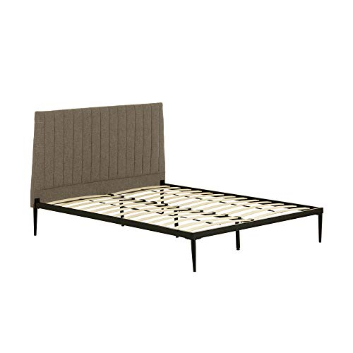 Kave Home - Nelly graues Bett 150 x 190 cm