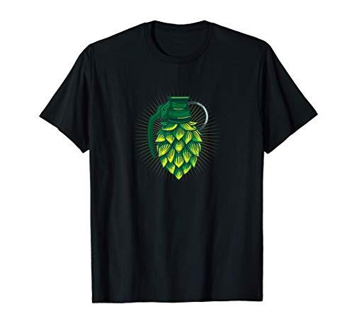 Hombre Regalo de amante de la cerveza de granada de lúpulo Camiseta