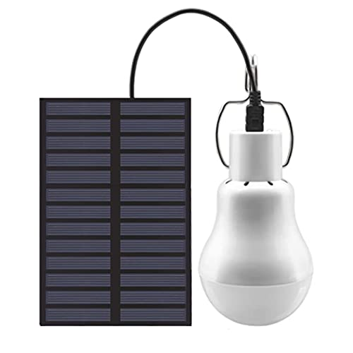Lámpara Solar,Bombilla Solar,luz Solar Exterior,Bombilla LED Solar, Lámpara de Carga USB Portátil con Sensor de Luz, para Carpa de Jardín Interior y Exterior,Camping,Senderismo,Pesca,iluminación