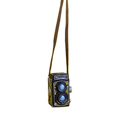 SH-Flying Decoración de cámara retro, modelo de grabadora de video de decoración de cámara vintage de resina creativa, accesorios de fotos y decoración de mesa, para decoración de café de pub relaxing