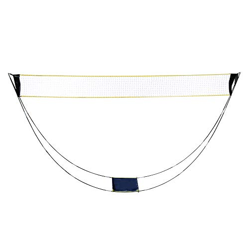 Portable Badminton Net, Folding Volleyball Tennis Badminton Net Set with Stand Carry Bag, Easy Setup for Outdoor/Indoor Court, Backyard, No Tools or Stakes Required