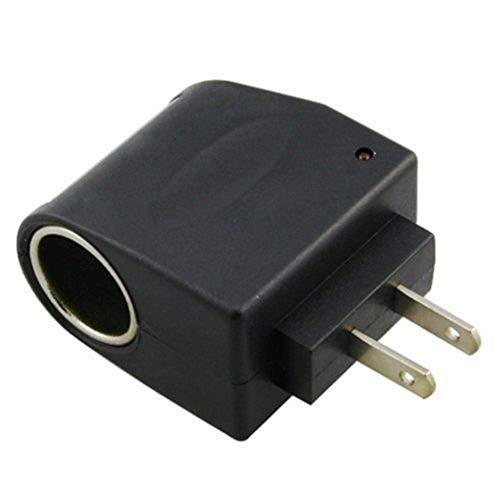 iSaddle Universal AC to DC Car Cigarette Lighter Socket Adapter Converter Vehicle Power Inverters Vehicle Amplifier Power Car Refrigerator (US Plug, Output: DC 12V 500mA) 110V AC to 12V DC
