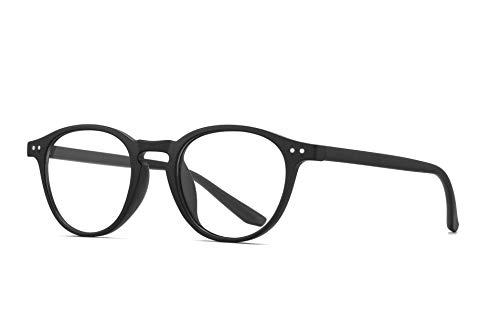 SKILEC Gafas Anti Luz Azul Gafas Lectura Hombre Mujer Gafas Ordenador TR90 Filtro Azul UV Gafas Presbicia Hombre Antifatiga para PC, Gaming, Tablet, TV, Lentes Transparentes (Negro)