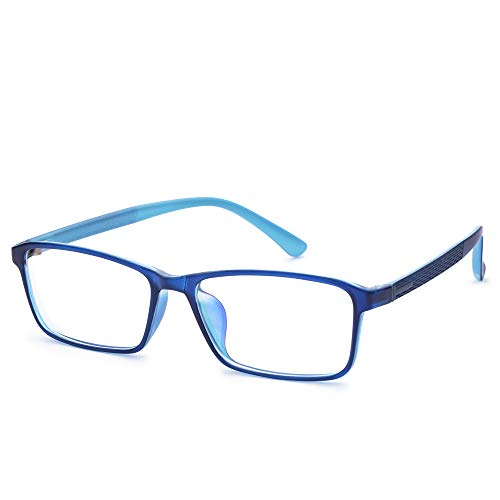 Jcerki Blue Light Filter Nearsighted Distance Glasses -2.00 Strength Men Women Anti Eyestrain UV Blocking Myopia Eyeglasses **These are not Reading Glasses**