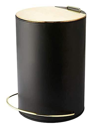 YBN Creativa de Pedal de Basura de Metal Puede hogar Baño Dormitorio Cocina Almacenamiento 5L Cubo de la Sala de Estar con la Cubierta Desodorante Bote de Basura