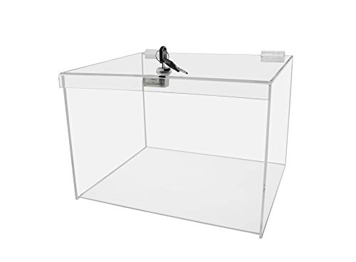 Best Review Of Marketing Holders Acrylic Lucite Security Show Case 12w x 10d x 8h Locking Safe Bo...