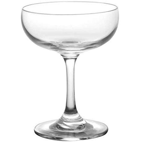 Main Street Mercantile Coupe Glass - Set of 4 Coupe Cocktail Glasses - Martini and Champagne Glasses for Home Bar, Wedding, and New Years Party - Vintage Style Cocktail Glass Set of 4-7 oz