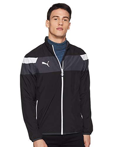 PUMA Herren Jacke Spirit II Woven Jacket Trainingsjacke, Black-White, M