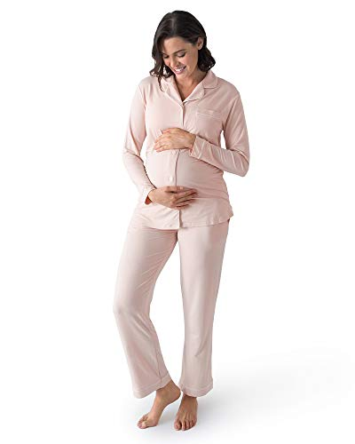 Product Image of the Kindred Bravely Clea Bamboo Classic Long Sleeve Maternity & Nursing Pajama Set...