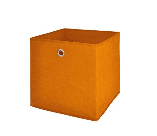 Möbel Akut Faltbox 4er Set in orange, Aufbewahrungsbox für Raumteiler oder Regale