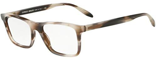 Giorgio Armani 0AR7163 Monturas de gafas, Striped Grey, 55 para Hombre