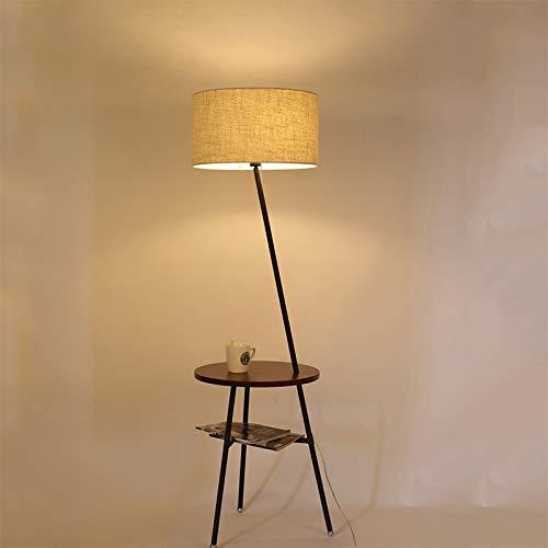 LIPENLI Moda nórdica Moda E27 Hierro de hierro forjado Lámpara de pie de la lámpara de la lámpara for la sala de estar de la sala de estar Habitación del hotel Negra Negra Lámpara de pie