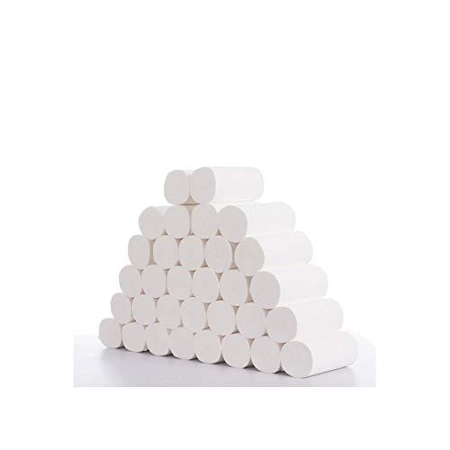 Ratio Paper handdoek toiletpapier rol wegwerpbare meerlaagse weefsel papier roll, 96 rollen papier verdikt primaire hout pulp serie cored wc-rol