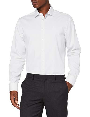 Seidensticker Herren Business Hemd - Bügelfreies, tailliertes Hemd -Shaped Fit - Langarm - Kent-Kragen - 100% Baumwolle