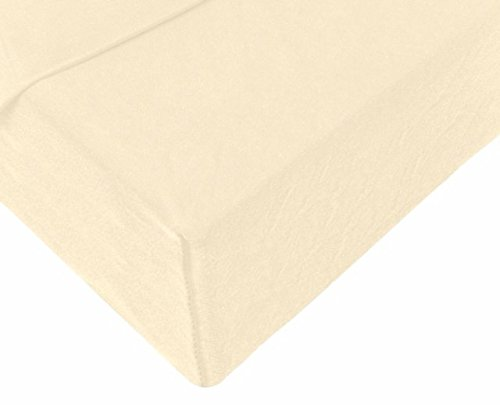Double Jersey – Spannbettlaken 100% Baumwolle Jersey-Stretch bettlaken, Ultra Weich und Bügelfrei mit bis zu 30cm Stehghöhe, 160x200x30 Natur Weiss - 4