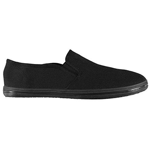 Slazenger Kinder Slipper Sneaker Canvas Schwarz 40
