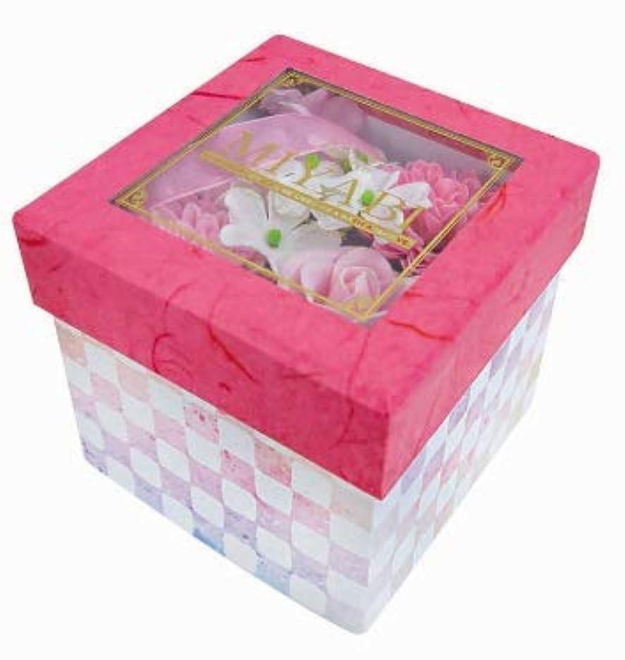 ひどい揮発性精緻化花のカタチの入浴剤 和バスフレBOX-MIYABI-M恋 775581