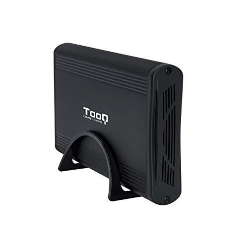 TooQ TQE-3526B - Carcasa para Discos Duros HDD de 3.5', (SATA I/II/III, USB 3.0), Aluminio, indicador LED, Color Negro, 350 grs.