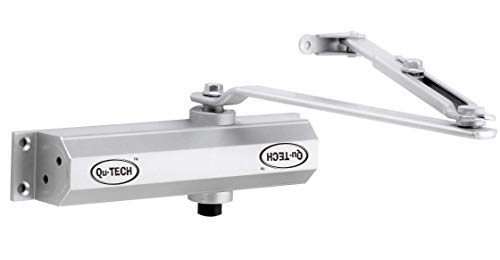 Qu-Tech Aluminium Fully Automatic Hydraulic Door Closer for Home, Office/Double Speed (Silver)
