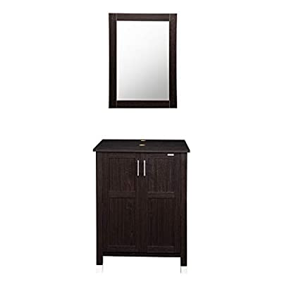 Modern Bathroom Vanity Stand Cabinet with Vanity Mirror,Single MDF Cabinet
