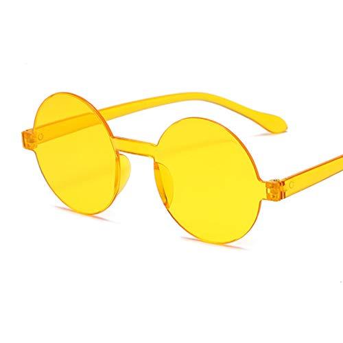 Gafas De Sol Gafas De Sol Redondas Más Nuevas para Mujer, Diseñador Retro, Lente Roja Negra, Gafas De Sol para Mujer, Al Aire Libre Uv400 C3Orange
