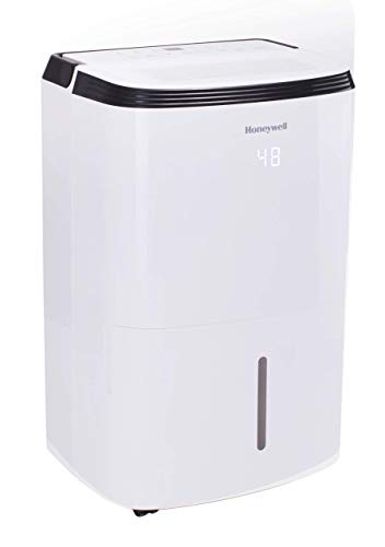 Honeywell Large SqFt Design & Filter Change Alert, TP70WKN, White TP70WK 70 Pint Energy Star Dehumidifier for Basement & Large Room Up to 4000 Sq Ft. with Anti-Spill Design (Renewed)