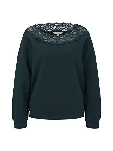 TOM TAILOR DENIM brei- & sweatshirts carmen pullover met kant