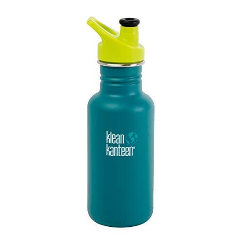 Klean Kanteen Trinkflasche für Kinder, klassisch, 532 ml, mit Sportverschluss (Neptune Blue)